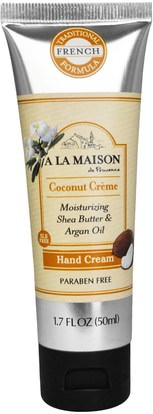A La Maison de Provence, Hand Cream. Coconut Creme, 1.7 fl oz (50 ml) ,حمام، الجمال، كريمات اليد