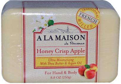 A La Maison de Provence, Honey Crisp Apple Bar Soap, 8.8 oz (250 g) ,حمام، الجمال، حمام أرجان، الصابون