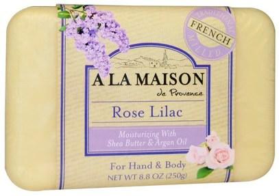 A La Maison de Provence, Rose Lilac Bar Soap, 8.8 oz (250 g) ,حمام، الجمال، الصابون
