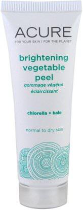 Acure Organics, Brightening Vegetable Peel, 1.4 fl oz (41 ml) ,جمال