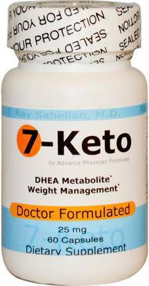 Advance Physician Formulas, Inc., 7-Keto, 25 mg, 60 Capsules ,والمكملات الغذائية، 7 كيتو، والصحة، والنظام الغذائي
