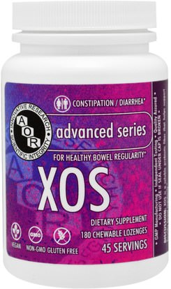 Advanced Orthomolecular Research AOR, Advanced Series, XOS, Unflavored, 180 Chewable Lozenges ,الصحة