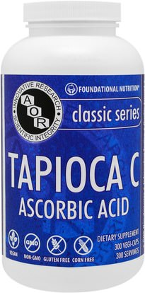 Advanced Orthomolecular Research AOR, Classic Series, Tapioca C, Ascorbic Acid, 300 Vegi-Caps ,الفيتامينات، فيتامين ج