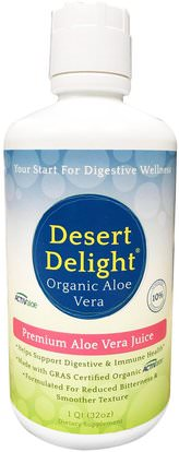 Aerobic Life, Desert Delight, 100% Pure Aloe Vera Juice, 1 qt (32 oz) ,المكملات الغذائية، الألوة فيرا، سائل الألوة فيرا