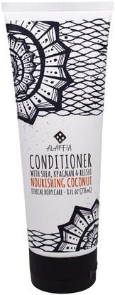 Alaffia, Conditioner, Nourishing Coconut, 8 fl oz (236 ml) ,حمام، الجمال، الشعر، فروة الرأس، الشامبو، مكيف، مكيفات