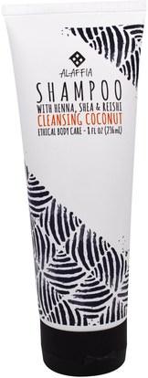Alaffia, Shampoo, Cleansing Coconut, 8 fl oz (236 ml) ,حمام، الجمال، الشعر، فروة الرأس، الشامبو، مكيف