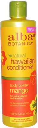Alba Botanica, Natural Hawaiian Conditioner, Body Builder Mango, 12 oz (340 g) ,حمام، الجمال، مكيفات، ألبا بوتانيكا هاواي خط