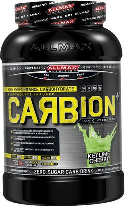 ALLMAX Nutrition, CARBion+, Maximum Strength Electrolyte + Hydration Energy Drink, Key Lime Cherry, 2.4 lbs. (1080 g) ,والرياضة، تجريب