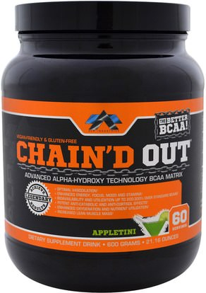 ALR Industries, ChainD Out BCAA Matrix, Appletini, 21.16 oz (600 g) ,والرياضة، والمكملات الغذائية، بكا (متفرعة سلسلة الأحماض الأمينية)