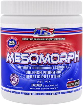 APS, Mesomorph, Ultimate Preworkout Complex, Grape Flavor, 13.68 oz (388 g) ,والصحة، والطاقة، والرياضة