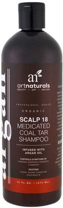 Artnaturals, Scalp 18 Medicated Coal Tar Shampoo, 16 fl oz (473 ml) ,الصحة، الجلد، الشعر، فروة الرأس