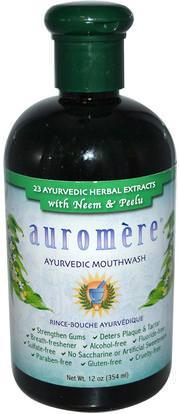 Auromere, Ayurvedic Mouthwash, 12 oz (354 ml) ,حمام، الجمال، شفهي، الأسنان، تهتم، غسول الفم