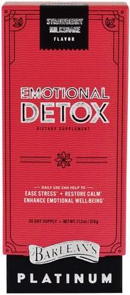 Barleans, Emotional Detox, Strawberry Milkshake Flavor, 11.2 oz (318 g) ,الصحة