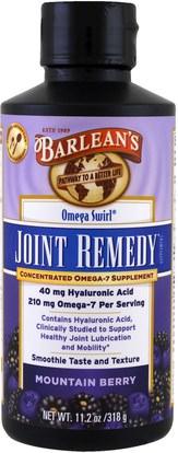 Barleans, Omega Swirl, Joint Remedy, Mountain Berry, 11.2 oz (318 g) ,المكملات الغذائية، إيفا أوميجا 3 6 9 (إيبا دا)، العظام، هشاشة العظام، الصحة المشتركة