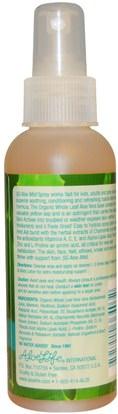 حمام، الجمال، الألوة فيرا كريم محلول هلام Aloe Life International, Inc, SG Aloe Mist, Grapefruit Scent, 4 fl oz (120 ml)