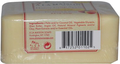 حمام، الجمال، حمام أرجان، الصابون A La Maison de Provence, Honey Crisp Apple Bar Soap, 8.8 oz (250 g)
