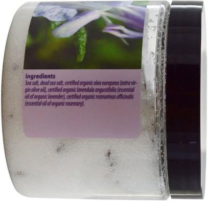 حمام، الجمال، أملاح الاستحمام Isvara Organics, Body Polish, Lavender & Rosemary, 12 oz (355 ml)