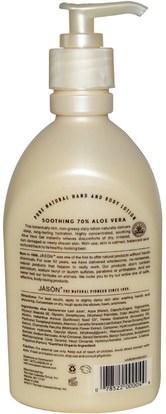 حمام، الجمال، غسول الجسم Jason Natural, Pure Natural Hand & Body Lotion, Soothing 70% Aloe Vera, 16 oz (454 g)