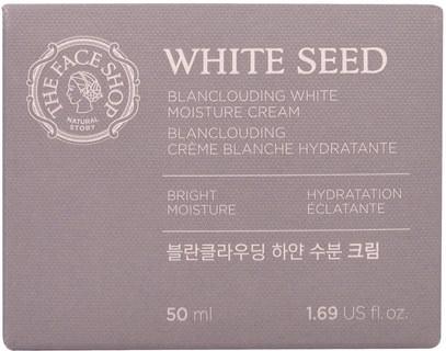 حمام، الجمال، غسول الجسم The Face Shop, White Seed, Blanclouding White Moisture Cream, 1.69 fl. oz (50 ml)