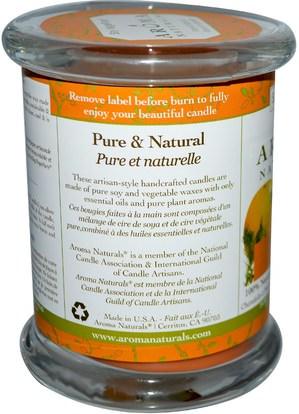 حمام، الجمال، الشمعات Aroma Naturals, Soy VegePure, 100% Natural Soy Essential Oil Candle, Clarity, Orange & Cedar, 8.8 oz (260 g)