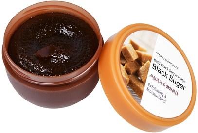 حمام، الجمال، أقنعة الوجه، السكر، أقنعة الفاكهة Tony Moly, Gold Black Sugar Mask, 100 ml
