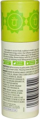 حمام، الجمال، بخاخ العطر Aura Cacia, Organic Chakra Balancing Aromatherapy Roll-On, Opening Heart, 0.31 fl oz (9.2 ml)