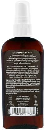 حمام، الجمال، هدية مجموعات، بخاخ العطور Hugo Naturals, Essential Body Mist, Cranberry Pomegranate, 4 fl oz (118 ml)
