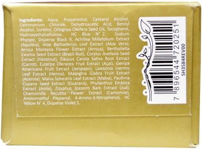 حمام، الجمال، الشعر، فروة الرأس، لون الشعر، العناية بالشعر Surya Henna, Henna Cream, High-Performance Healthy Hair Color for Grey Coverage, Golden Brown, 2.37 fl oz (70 ml)