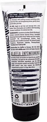 حمام، الجمال، الشعر، فروة الرأس، الشامبو، مكيف Alaffia, Shampoo, Cleansing Coconut, 8 fl oz (236 ml)