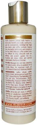 حمام، الجمال، الشعر، فروة الرأس، الشامبو، مكيف، مكيفات Alaffia, Coffee & Shea Revitalizing Conditioner, Citrus Mint, 8 fl oz (235 ml)