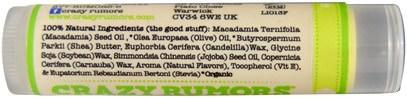 حمام، الجمال، العناية الشفاه، بلسم الشفاه Crazy Rumors, 100% Natural Lip Balm, Limeade, 0.15 oz (4.4 ml)