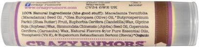 حمام، الجمال، العناية الشفاه، بلسم الشفاه Crazy Rumors, 100% Natural Lip Balm, Mocha, 0.15 oz (4.4 ml)