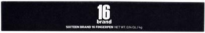 حمام، الجمال، أحمر الشفاه، لمعان، بطانة 16 Brand, Sixteen Fingerpen, FM04 Plum, 1 Pen