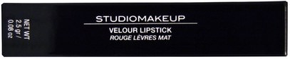 حمام، الجمال، أحمر الشفاه، لمعان، بطانة Studio Makeup, Velour Lipstick, Famous Pink, 0.08 oz (2.5 g)