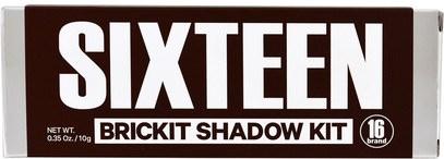 حمام، الجمال، ماكياج 16 Brand, Sixteen Brickit Shadow Kit, 0.35 oz (10 g)