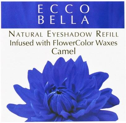 حمام، الجمال، ماكياج، ظلال العيون Ecco Bella, Natural Eyeshadow Refill, Camel.12 oz (3.5 g)