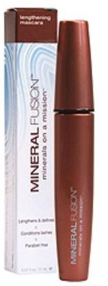 حمام، الجمال، بنية، ماسكارا Mineral Fusion, Lengthening Mascara, Graphite/Black, 0.57 fl oz (17 ml)