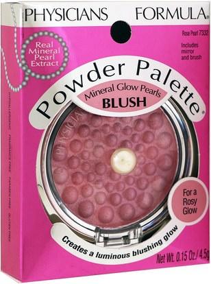 حمام، الجمال، ماكياج Physicians Formula, Inc., Powder Palette, Mineral Glow Pearls, Rose Pearl, 0.15 oz (4.5 g)