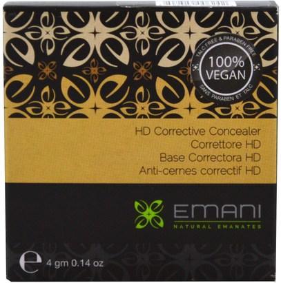 حمام، الجمال، ماكياج، توشوب عصا المخفي Emani, HD Corrective Concealer, Neutral, 0.14 oz (4 g)