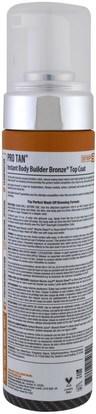 حمام، الجمال، دباغة النفس غسول Pro Tan USA, Instant Body Builder Bronze Top Coat with Applicator, 7 fl oz (207 ml)