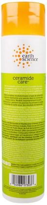 حمام، الجمال، الشامبو، الشعر، فروة الرأس، مكيف Earth Science, Ceramide Care, Curl & Frizz Control Shampoo, 10 fl oz (295 ml)