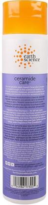 حمام، الجمال، الشامبو، الشعر، فروة الرأس، مكيف Earth Science, Ceramide Care, Fragrance Free Shampoo, 10 fl oz (295 ml)