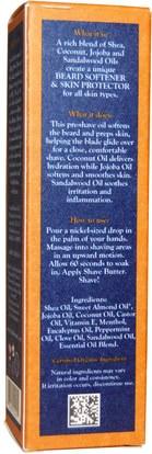 حمام، الجمال، كريم الحلاقة Shea Moisture, Shave, Three Butters Beard Softener & Skin Protector, 2 fl oz (59 ml)