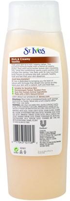 حمام، الجمال، هلام الاستحمام St. Ives, Rich & Creamy, Vanilla Body Wash, 13.5 fl oz (400 ml)