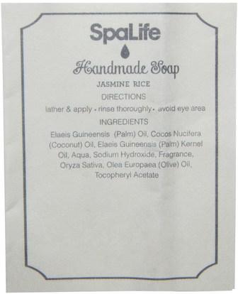 حمام، الجمال، الصابون My Spa Life, Handmade Cubed Soap, Jasmine Rice, 3 Pieces with Bead String, 90 g (Discontinued Item)