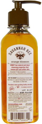حمام، الجمال، الصابون Savannah Bee Company Inc, Honey Hand Soap, Orange Blossom, 9.5 fl oz (280.9 ml)