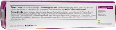 حمام، الجمال، معجون أسنان Organix South, XyliVita Multicare Whitening Toothpaste, Acai, 3.4 oz (96 g)