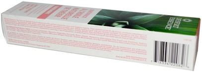 حمام، الجمال، معجون الأسنان، الجلد، شجرة الشاي، الشاي شجرة المنتجات Desert Essence, Natural Tea Tree Oil Toothpaste, Ginger, 6.25 oz (176 g)