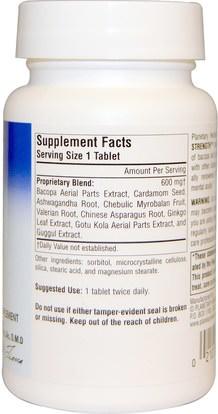 الجمال، مكافحة الشيخوخة، باكوبا (براهمي) Planetary Herbals, Bacopa-Ginkgo, 600 mg, 60 Tablets