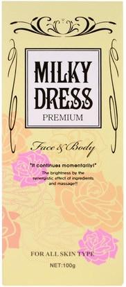 الجمال، العناية بالوجه، الكريمات المستحضرات، الأمصال، حمام Milky Dress, Premium, Face & Body Cream, 100 g